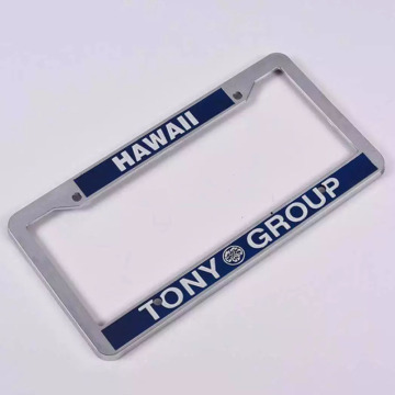 Customized Plastic Zinc Alloy Car License Plate Frame