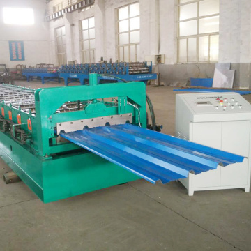 Stainless iron glazed tile building roof panel roll forming machine