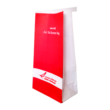 Custom Printing Logo Aviation sickness paper bag