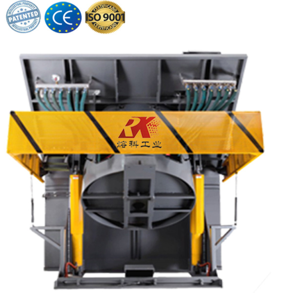 Induction heating furnace for melting steel
