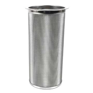 Stainless steel filter element for water treatment