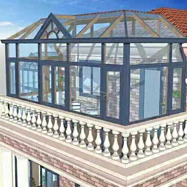 Slide Patio Cover Shaped Glass Restaurant Sun Room
