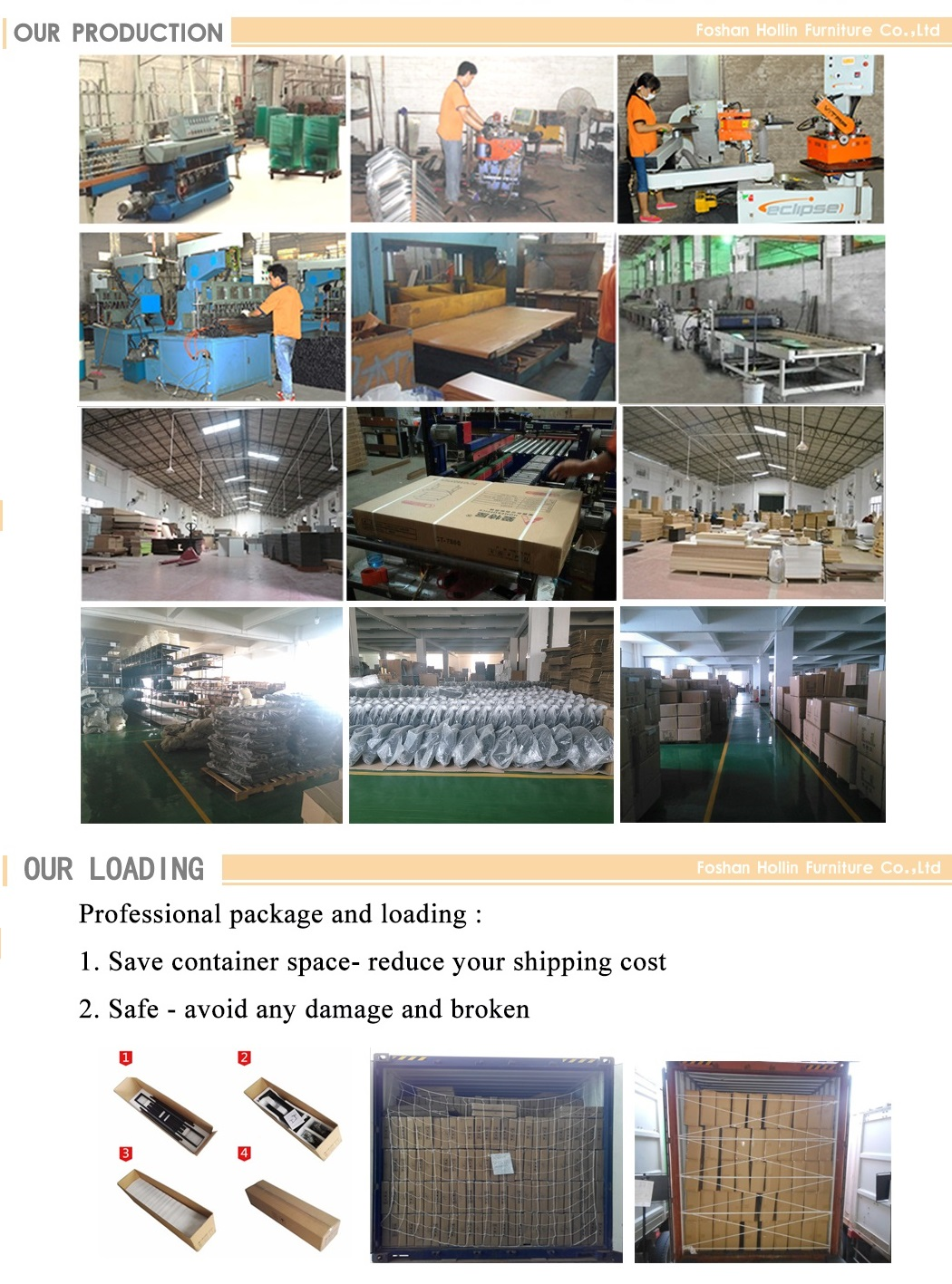 Furniture Production and loading