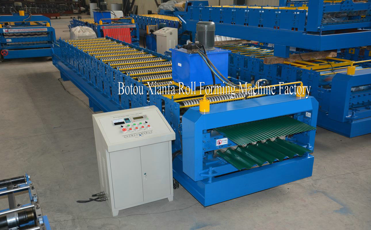 wave wall forming machine
