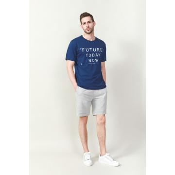 Men'S White Letter Printed T-Shirt