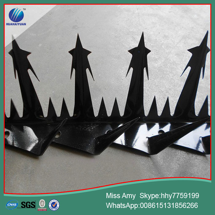 security barbed spike anti climb spike on top wall