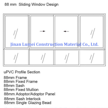 UPVC Sliding Sash Windows Profiles Liner