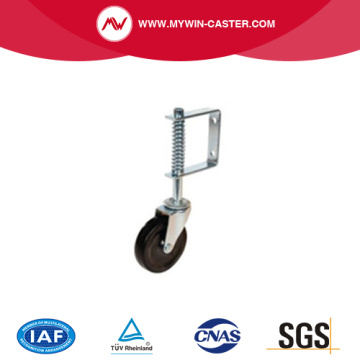 spring loaded caster gate castor wheel