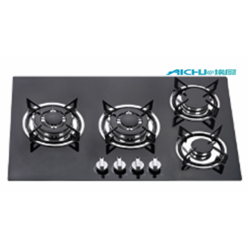 4 Burners Kitchen Tempered Glass Gas Hob