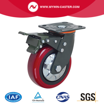 PU Wheel Brake Plate Heavy Duty Caster