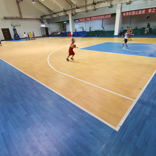 PVC basketball floor of wood pattern