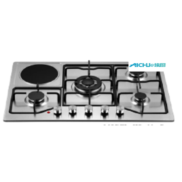 6 Burners Stainless Steel Electric Gas Hob