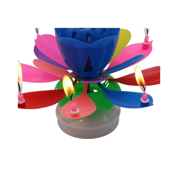 Lotus Birthday Candle--Double Layer Burning-Music Candle