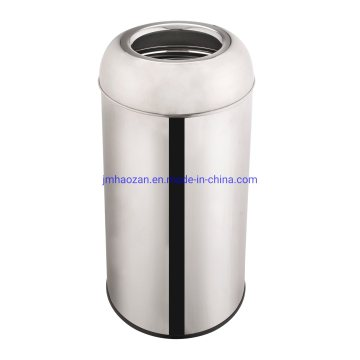 High Quality Stainless Steel Trash Bin with Funnel Lid, Dustbin