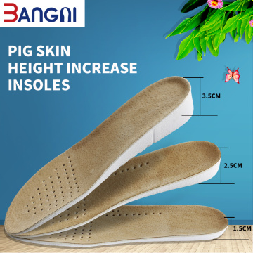 1.5cm-3.5cm Height Increase Leather Skin Free Cut Insoles