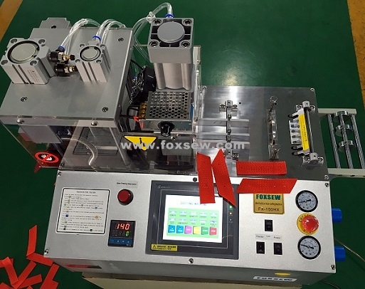 Auto Hot Knife Angle Webbing Cutting Machine With Hole Puncher