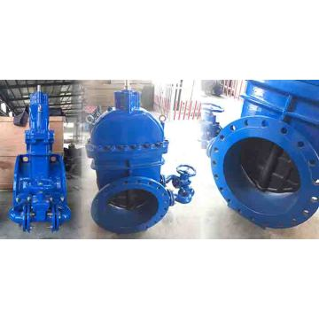 Gate valve with by-pass