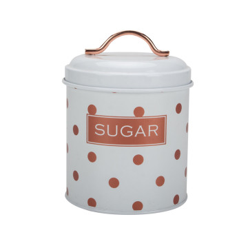Polka dots tea sugar coffee canister