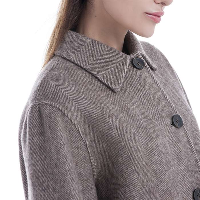 New styles single-breasted cashmere winter coat