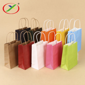 100gsm brown kraft paper shopping bag with handle