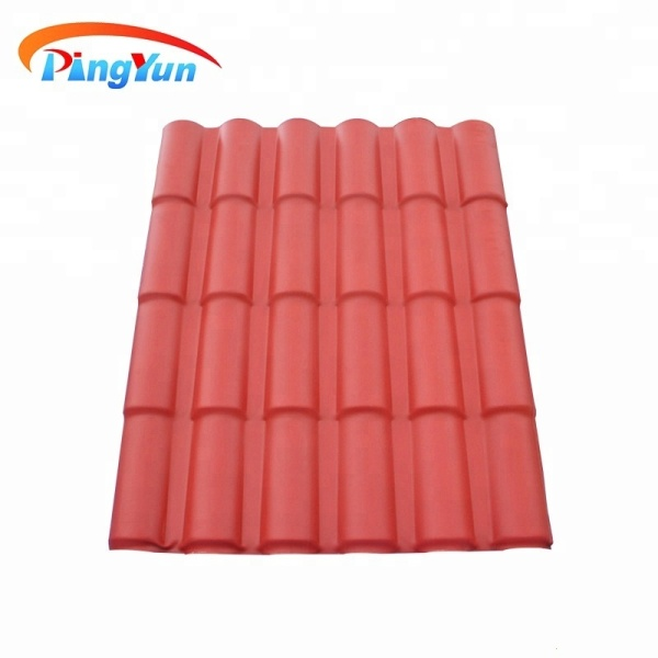 Excellent heat insulated UPVC spanish synthetic roof tiles