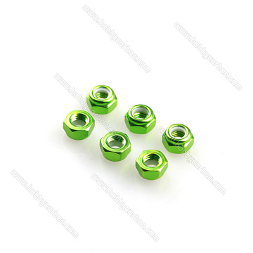 Aluminum Anodized Colorful Lock Nuts