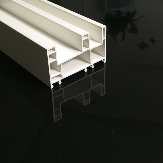 80MM Sliding Plastic Profiles with pure white color