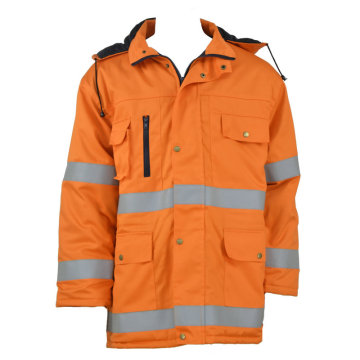 Orange Reflective Safety Work Jacket