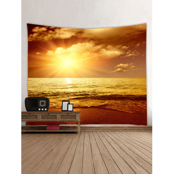 Tapestry Wall Hanging Sea Wave Beach Series Tapestry Sunrise Dusk Tapestry for Bedroom Home Dorm Decor