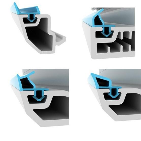 UPVC Profiles With PK Rubber