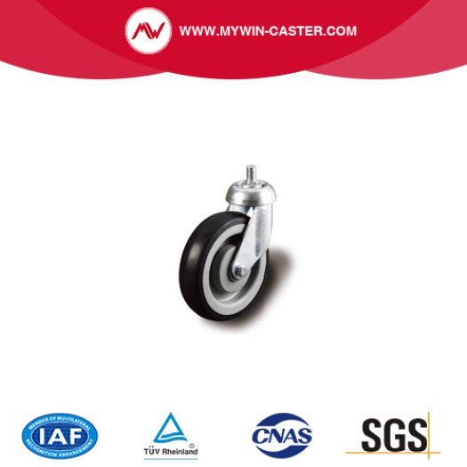 Threaded Stem Swivel TPE Shopping Cart Caster