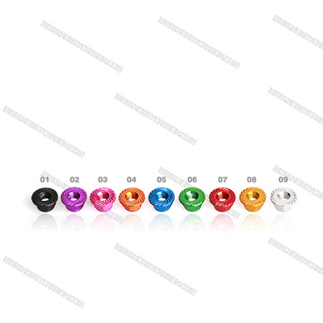 Hex nylon insert bicycle locking nuts
