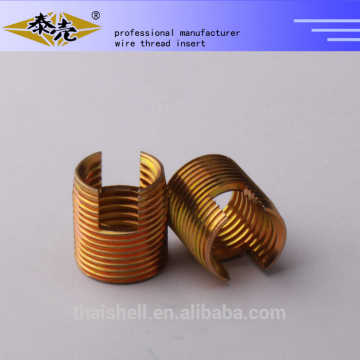 China Color zinc plated steel Self-tapping threaded inserts