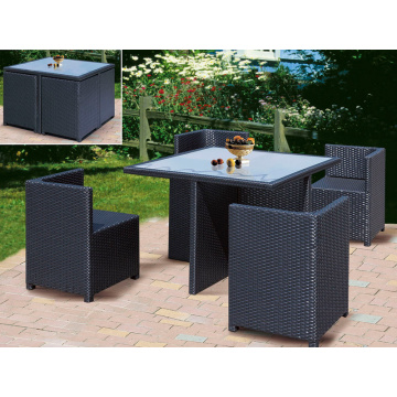 Restaurant Use Rattan Outdoor Furniture Dining Set