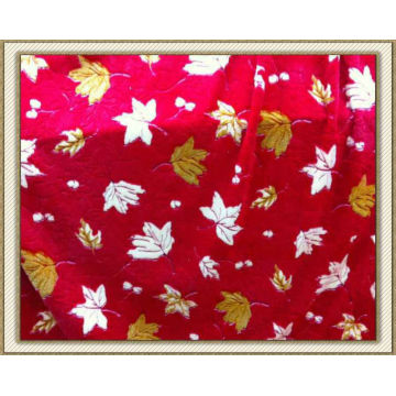 Polyester printed 3D coral fleece fabric wholesale