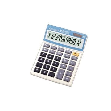 Solar Battery Display Standard Desktop Calculators