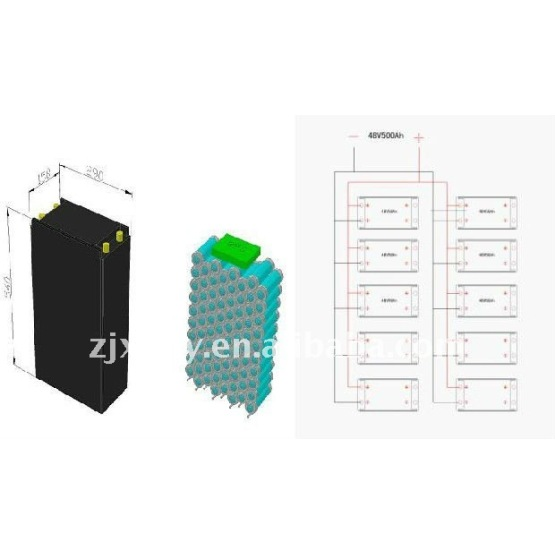 LiFePO4 lithium ion solar battery 48V 500Ah