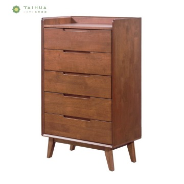 Solid Wood Drawer Chest of 5 Drawers