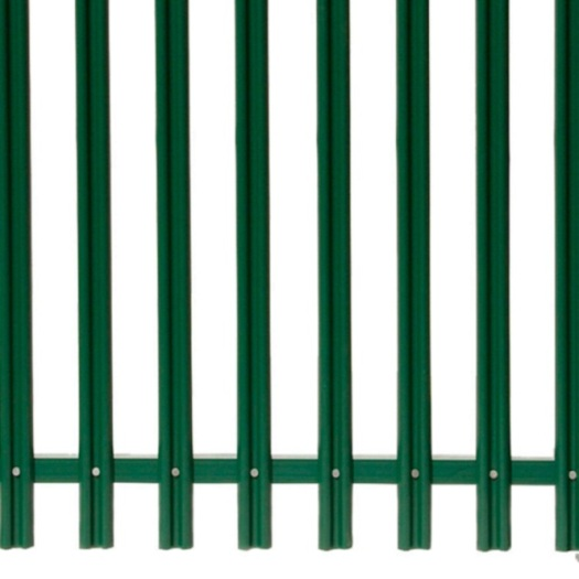 Cheap Decorative Steel PVC Coated D Section Palisade Fence