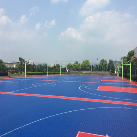 Anti-slip Interlocking Tiles Sports Floor