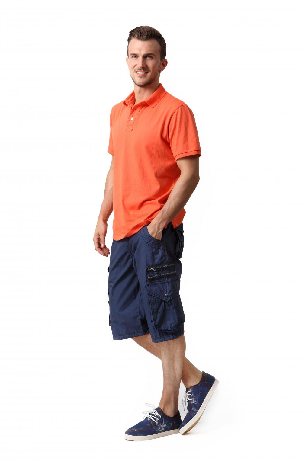 Men's garment washed shorts
