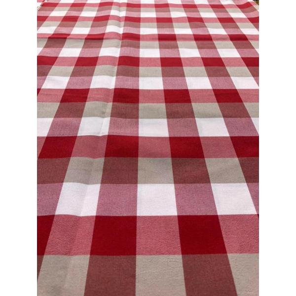 red check popular yarn dyed fabric