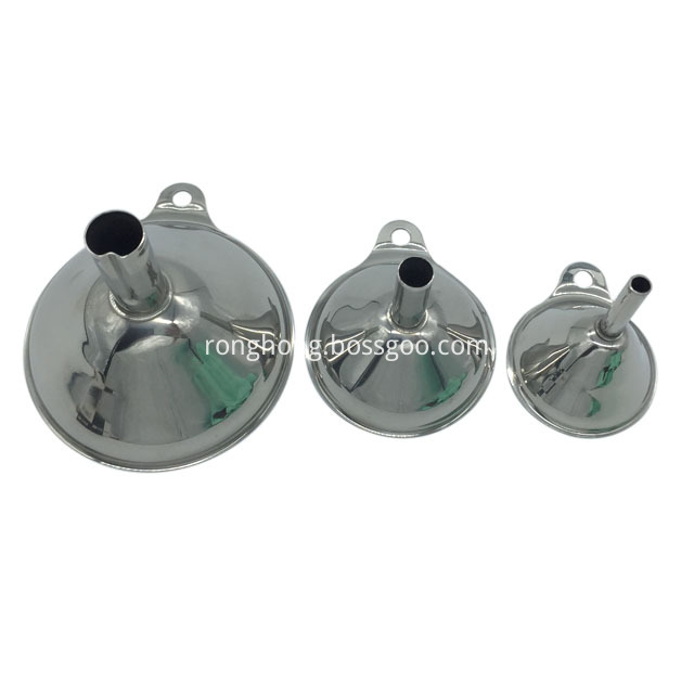 3 Pcs Stainless Steel Funnel Set3