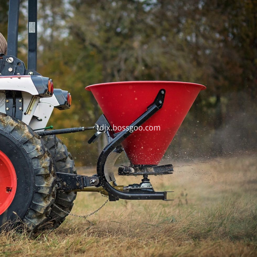 PTO drive fertilizer spreader