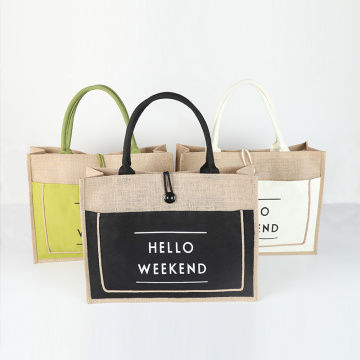 Shopping Tote Jute Bag