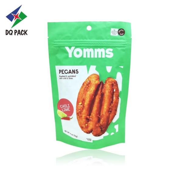 SNACK FOOD PRINTING PACKAGING PECANS ZIPPER DOYPACK