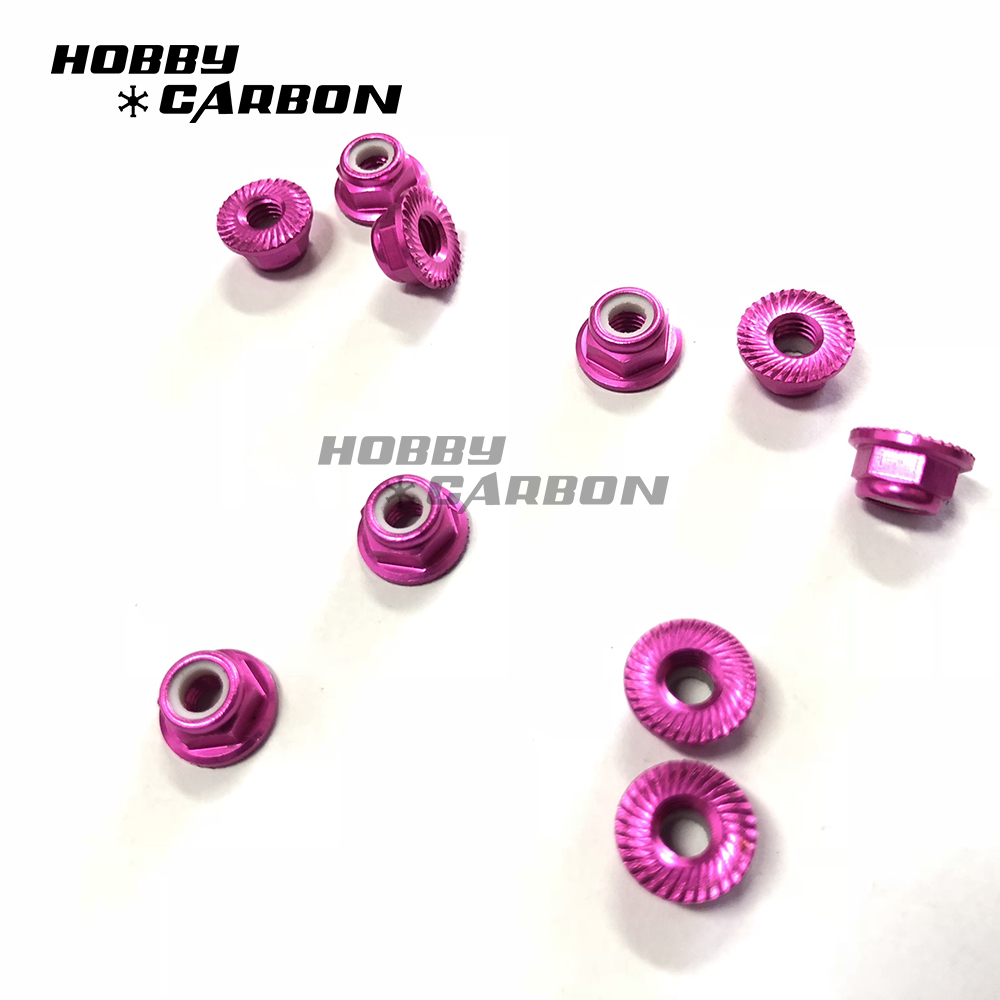 Colorful anodized cage nuts