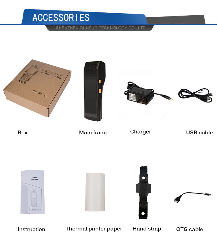 Package and accessories of PDA