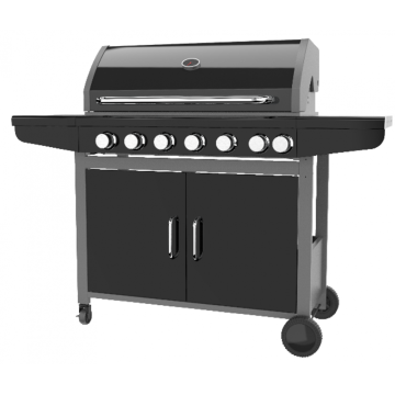 Large Gas Barbecue Grill With Side Burner