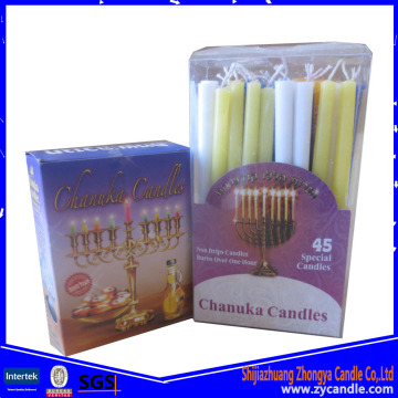 Decorative Small Size Color Hanukkah Candle